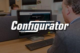 Stel online je eigen graafmachine samen met de configurator
