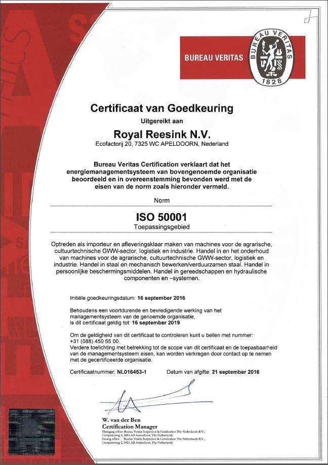 ISO 50001 certificaat